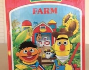 Vintage Sesame Street Bookville Farm, Bert & Ernie, Sesame Street Book, Sesame Street Farm, Sesame Street Toys, Childrens Books and Toys