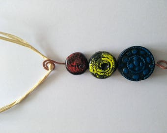 """necklace """"original"""" 37 cm in length with pendant 9 cm height"""