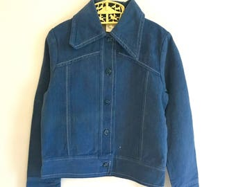 Billie Jacket: Vintage Child's 1970s brushed cotton jacket