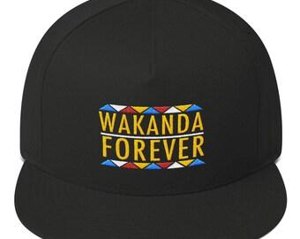 Wakanda Forever Hat Flat Bill Cap