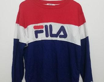 Vintage Fila Spell Out Logo Large Size Sweatshirt