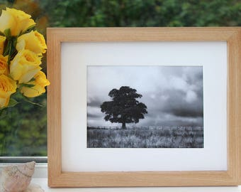 Oak picture frame, oak photo frame, handmade, plain frame, simple frame, square frame, wooden picture frame, wedding gift, 8x8, 8x10, 11x14
