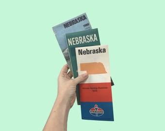 Vintage Nebraska Maps - Car Map