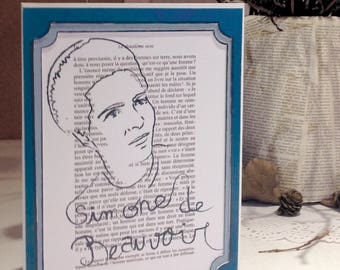 Simone de Beauvoir -  Feminist Icon Greeting Card