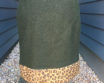 1990s Ralph Lauren Collection Cheetah Skirt