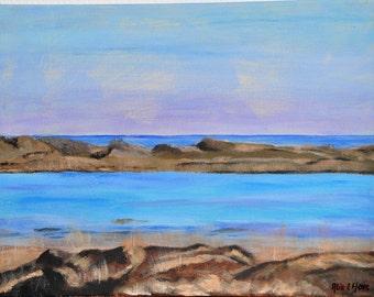 "Original painting ""beach of Terschelling"""