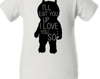 Where The Wild Things Are Bodysuit -- I'll Eat You Up I Love You So