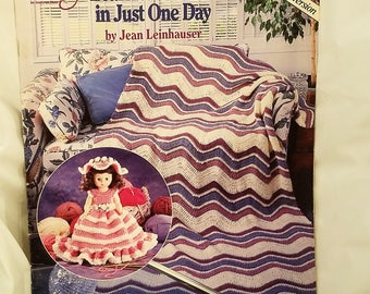 Learn To Crochet In Just One Day- Crochet Pattern Book - ASN 1146 - Right Handed Version