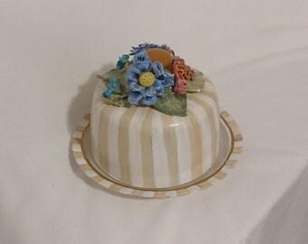 Posies Cake dish