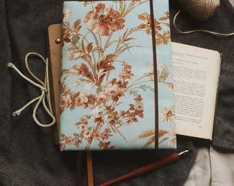 Handmade sketchbook with covers made of cotton | Sketchbook A5 |