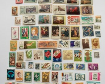 Set of 72 pcs Postal, Postage Stamp, Collecting, Philately #13
