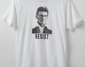 Resist Shirt - John Brown - Men's Shirt - Made in USA - 50/50 Poly-Cotton Blend - History Shirt