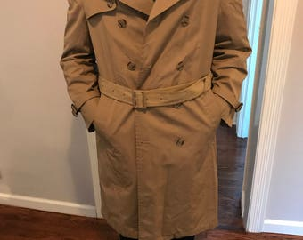 Vintage Stafford Classic Trench Coat 38R