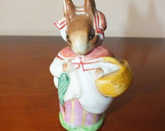 Vintage Beswick Beatrix Potter Mrs Rabbit Figurine BP3B