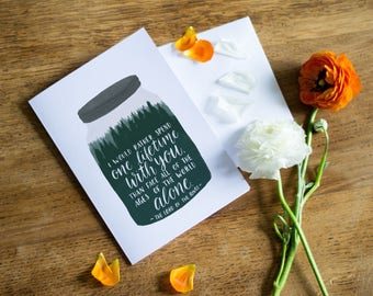 Valentines Lord of the Rings Card // Lord of the Rings Illustration // Forest in a jar // Valentines Day Card // Anniversary Card
