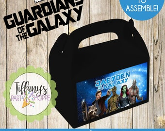 Guardian of the Galaxy Favor Box,  Guardian of the Galaxy Goody Box, Guardian of the Galaxy Treat Box, Guardian of the Galaxy Favors