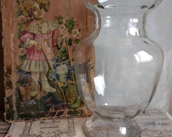 Extra large vintage glass vase, flower vase, Can also be used as a fishbowl