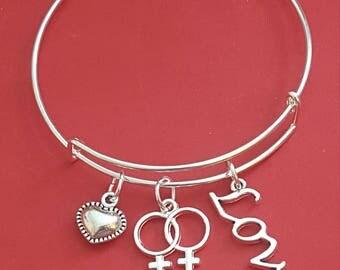 Gay Love Themed Charm Bracelet