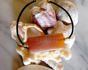 Agate - foggy morning bracelet