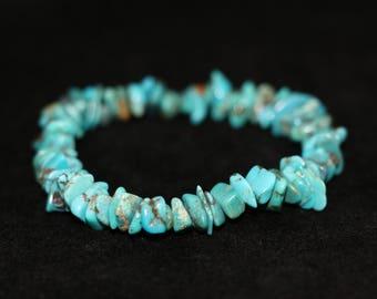 No. 1 Turquoise Chip Bracelet (Handmade)