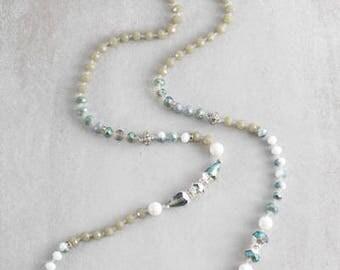 Nadia Beaded Necklace | Olive