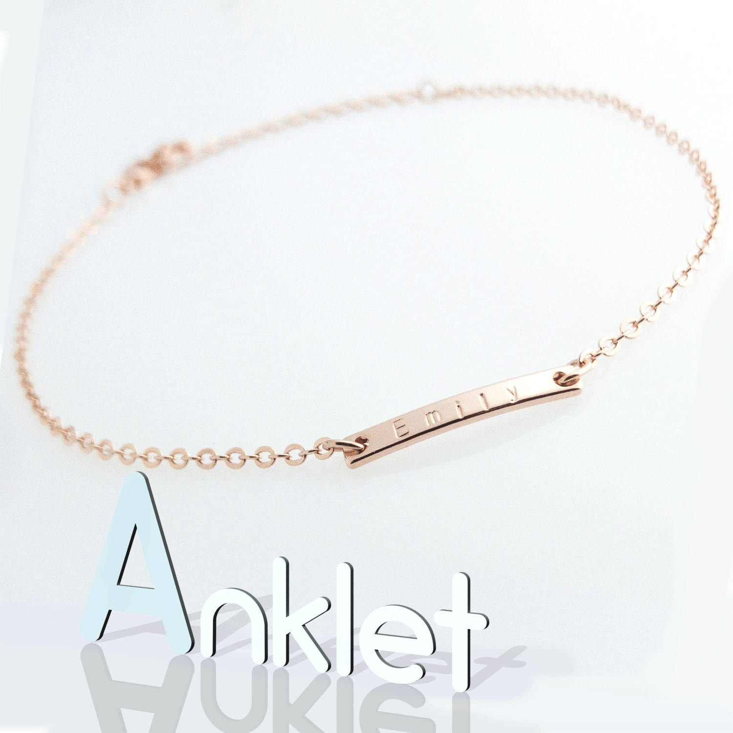 anklet name album gold products drop a swyc style x necklace image