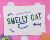 Smelly Cat, Friends TV Show Postcard Print