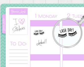 Lash Appointment Reminder Stickers, Planner Stickers, Calendar Stickers, Salon Stickers, Small Kawaii Stickers, Icon Stickers, Labels