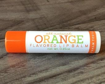 ORANGE Lip Balm - All Natural - Homemade
