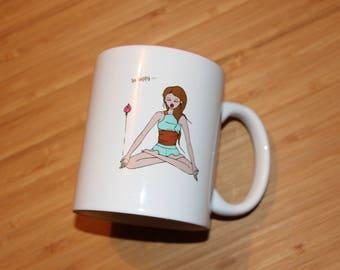 Mug - The alarm clock Ideal de Nanouq-Yoga-Art of the table-bowl-porcelain-gift unique gift anniversary-
