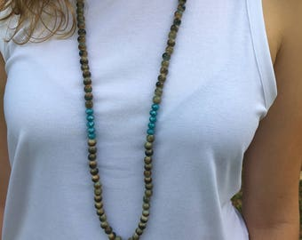 Marbled beads with bead spacing & tassel