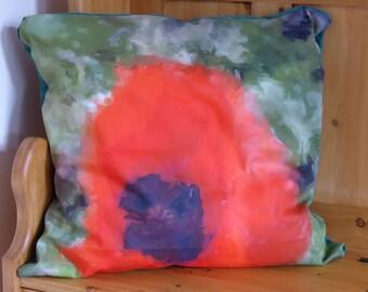 Handmade Poppy Cushion
