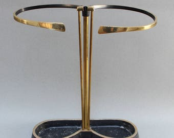 Brass and Metal Umbrella Stand (c. 1950s)
