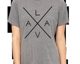 LAVA gray triblend ladies t-shirt
