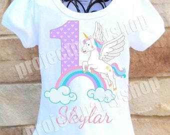Unicorn Birthday Shirt, Rainbow Unicorn Birthday Shirt, Pastel Unicorn Birthday Shirt