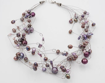 Necklace in River Pearls