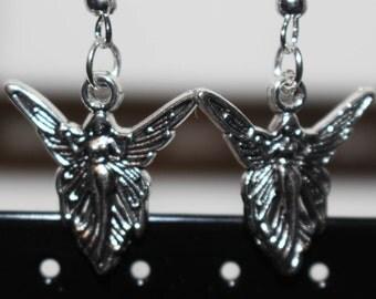 Fairy silver charm earrings