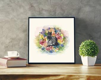 Cat print, Cat art, Cat decor, Cat wall art, Pet Print, Watercolor pet art, Watercolor cat print, Digital print, Printable art, cats, prints