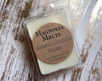 Hansel and Gretel's House, Scented Soy Wax Melt, Hansel and Gretel's House Wax Melt, Soy Melt, Wax Melt, Gingerbread Wax Melt, Fall Scent