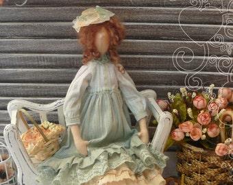 A doll in the style of a Boho Liliana - Tilda boho - Doll tilda interior