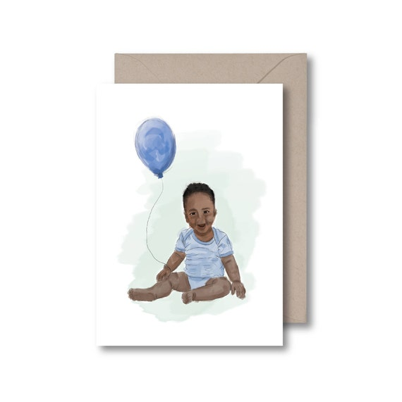 Black Baby Card