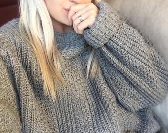 Vintage Retro Clothing- Vintage Streetwear- Cool Styles- Vintage Clothing- vintage sweater- Windridge slouchy grey sweater! 6eZGjrRq