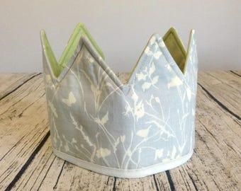 Fabric Kids Crown, Waldorf Crown, Birthday Crown, Play Crown, Dress Up Crown