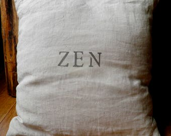 Zen 100% linen cushion