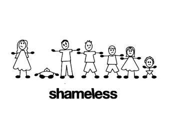 shameless/ Gallager Family vinyl sticker decal