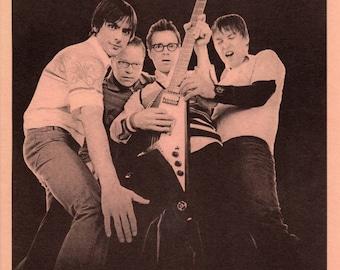 Weezer - Vintage Flyer - Saves The Day, Ozma - 2002