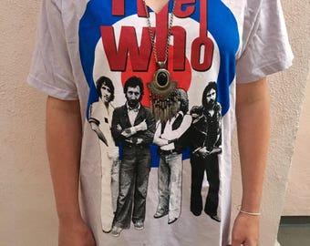 Vintage The Who Choker Neck Dress