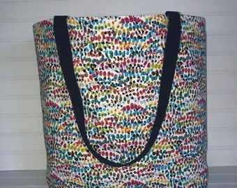 Handmade Everyday Tote | Beach Bag | Multicolored Speckled Tote