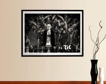 Linkin Park poster, Chester Bennington R.I.P. printable portrait - Instant download wall art - Music Poster - Chester Bennington RIP Poster