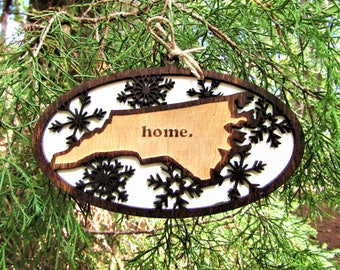 Christmas Ornament NC Home
